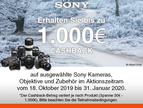 Sony Winter Cashback 2019